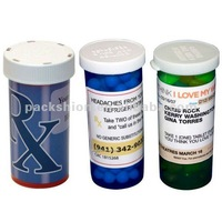 High Quality Pill Bottle Custom Label