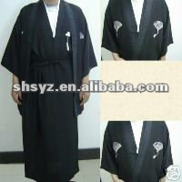 Vintage Yukata Japanese Kimono Costume Dress with Obi