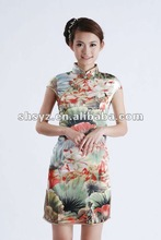 2012 Newest Chinese style Short dress Cheong-sam Qipao