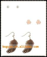feather earrings jewelry for 1 dollar earrings