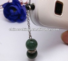 fashion semi-precious stone iphone dust plugs,new design mobile phone jewelry
