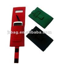 Grey mobile phone sleeve bag/felt cell phone case