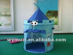 hot sales kids play castle tent blue color