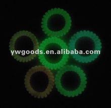 Glow in Dark Spiral or Phone Line Bracelet/hair band