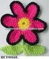 Handmade Crochet flor broche feito na maior fábrica de porcelana de flor de crochê mão Shangrao Crochet artesanato fábrica