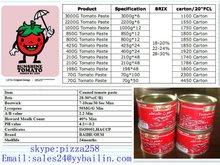 210g tomato paste &pasta de tomate, brix28-30%