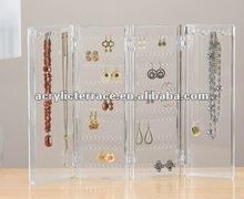 Acrylic Folding Earring & Necklace Holder