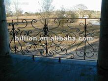 2012 china hebei manufacture factory galvanized Decorative wrought iron porch railings handrial gates trellis