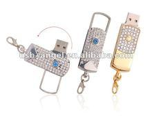 Hot U042E Jewelry diamond gift fingerprint 16gb usb flash drives