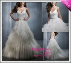 Chapel Train Crystal Beading tulle qq205 2012 Bridal gowns