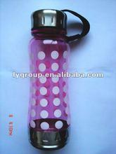 2012 new design 800ml stainless steel sport bottle with plastic ,650ml hot selling plastic bottle