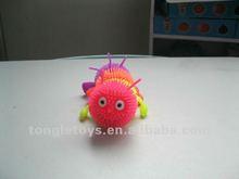 Four sections caterpillar puffer ball/worm puffer toys
