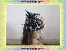 Feather flower Hat Hair Brooch headdress fascinator for wedding