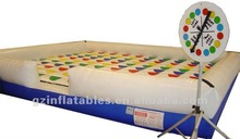 {Qi Ling} giant Ohio inflatable twister game,giant twister game,twister game