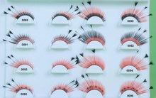 2012 hot sale Colorful feather false eyelashes