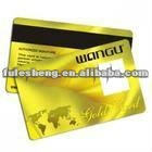gold card with Hico magnetic stripe and signature panel