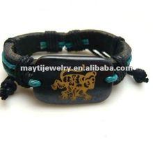 HOT wholesale zodiac leather bracelet with monkey