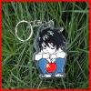 fashion acrylic key chain cool keyrings anime keychain ring