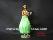 polyresin hawaii hula girl hip bobble figurine