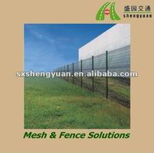 pvc coated welded green metal fence treillis panel