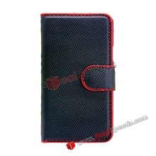Credit Card Holder Wallet Leather Pouch Case for Samsung Galaxy S2 I9100(Black)