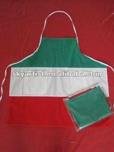 fashion and novelty italy flag staff uniform and hotel bib