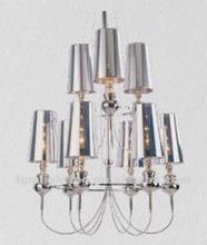 Modern transparent silver,gold PVC chandelier