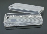 TPU gel rubberized cover case for iphone4