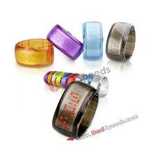 Flash Shiny Bracelet LED Wrist Watch(Baby Blue)