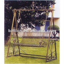 2012 china producer manufacture hand hammered wrought iron swings for garden