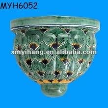 verde pavone decorativi vasi in ceramica