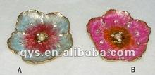 Pewter Trinket/Jewelry Tray in Flower Design