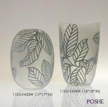 handmade blown glass antique vase