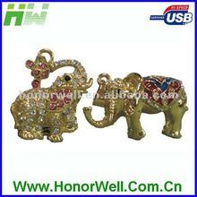 Jewelry USB flash drive elephant series