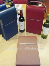 New bonded leather Bottle wine case