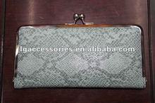 Hot Sale Silver Snake Metal Framed WALLET/PURSE/CLUTCH/CLIP for women