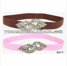 colorful elastic dressing cotton belt with metal buckle