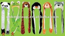 Animal Plush Hat Frog/wolf/panda/penguin Hat