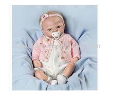 Silicone renascer baby girl boneca