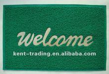 Cheap Green Door Mat Welcome PVC Door Mat underlay with logo printing