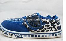 2012 fastion leopard canvas children's pumps