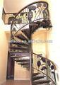 2012 fábrica nova deep quente gavanized decorativos em ferro forjado escada em caracol de ferro cerca de grades de escada em espiral