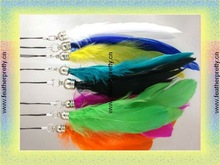 colourful long feather Key Chain Keyring for young people