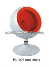 2012 new model fiberglass mini ball chair(pet chair)