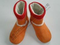soft short plush cloth TPR sole ,Handicraft Boot,art shoes slipper forgirl women in autumn winter spring