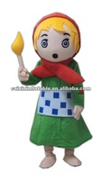 The Little Match girl mascot costume