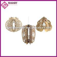 Fashion lantern wooden ornament