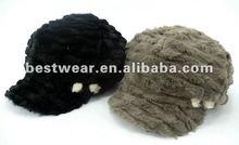 2012 new style lady winter warm faux fur hat