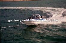 2012 hot sale 18ft outboard and inboard motor fiberglass speed boat