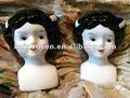 Antique cerâmica/ bonecas de porcelana cabeças